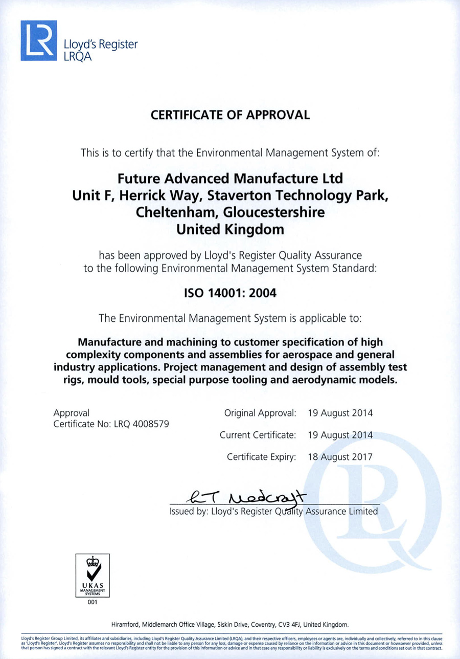 iso 12001:2004 Certificate